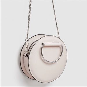 Zara Round Crossbody/Top-handle w/ Silver Hardware